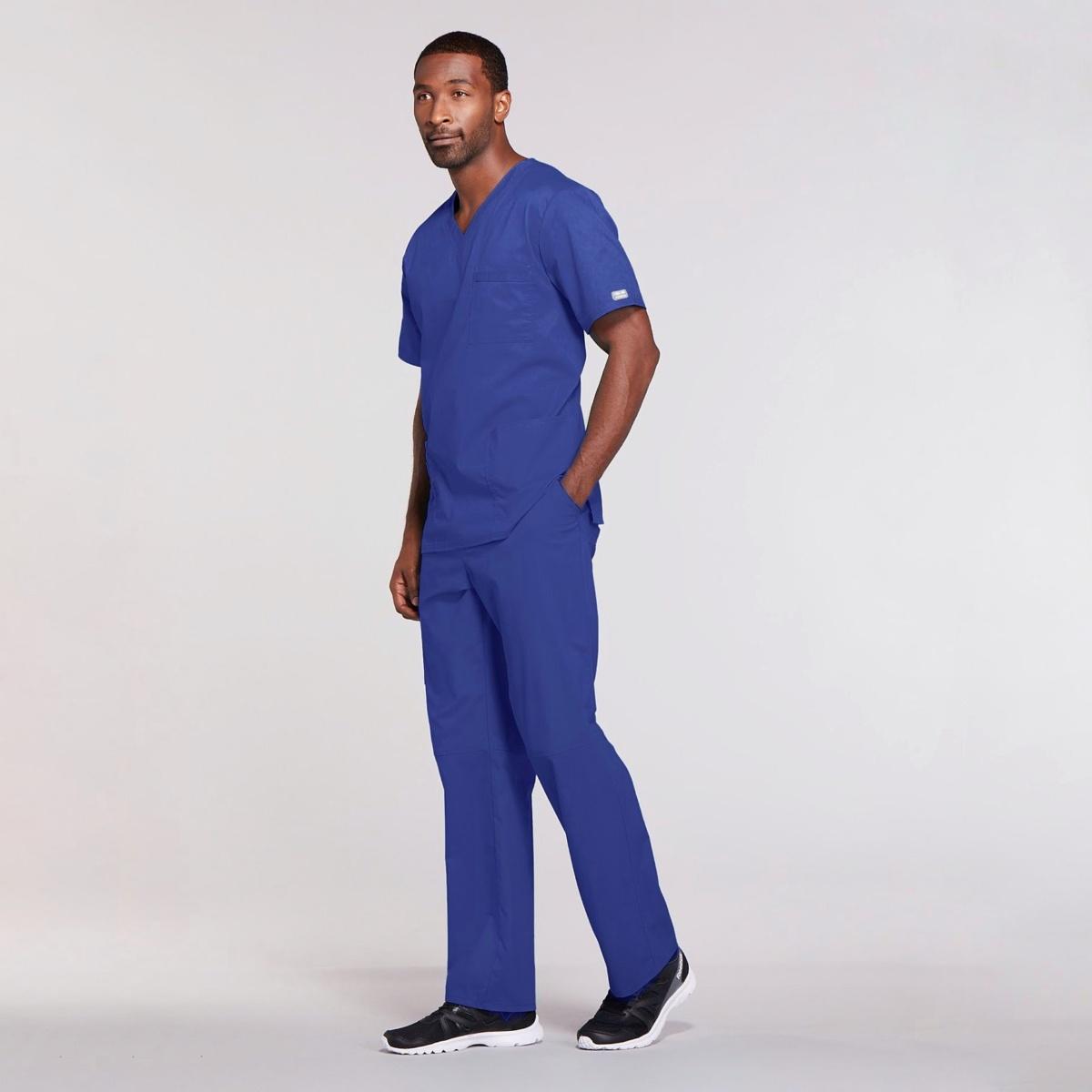 Мужской медицинский костюм прямого силуэта Core Stretch цвет- виноград