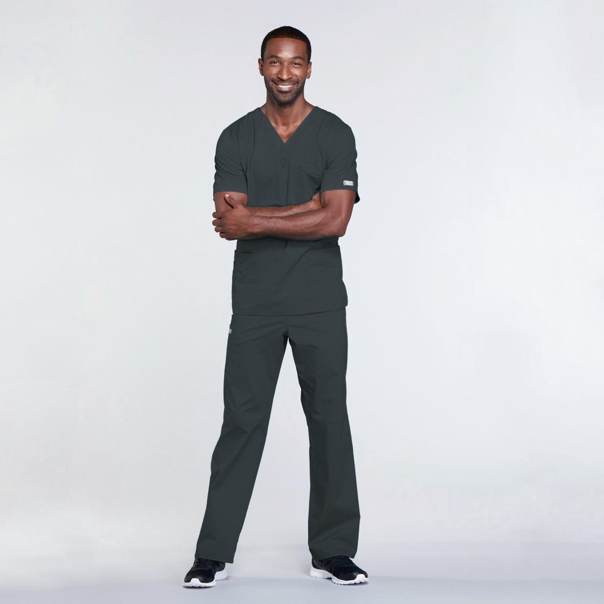 Мужской медицинский костюм прямого силуэта Core Stretch цвет- графитовый