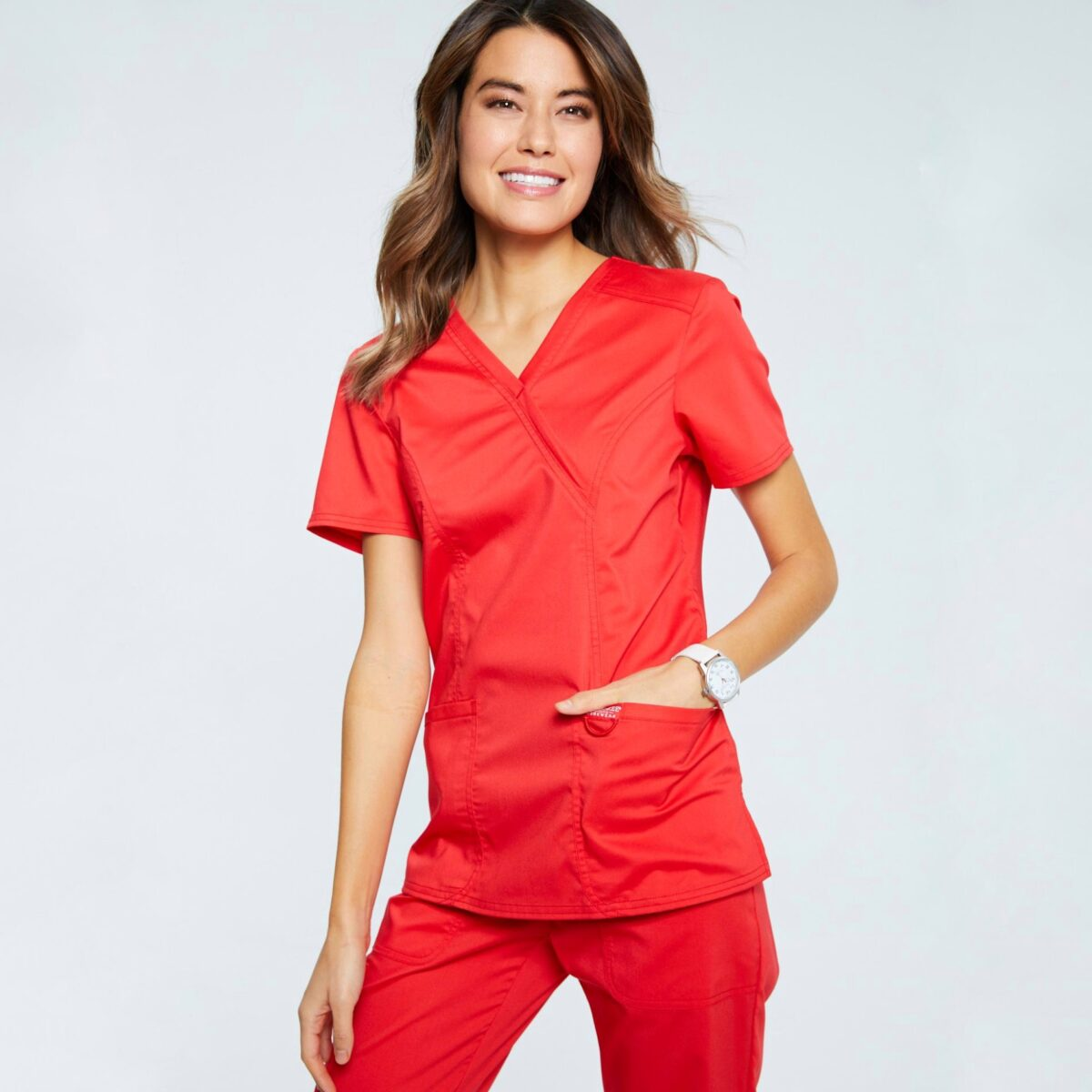 Женский медицинский костюм Revolution цвет красный
