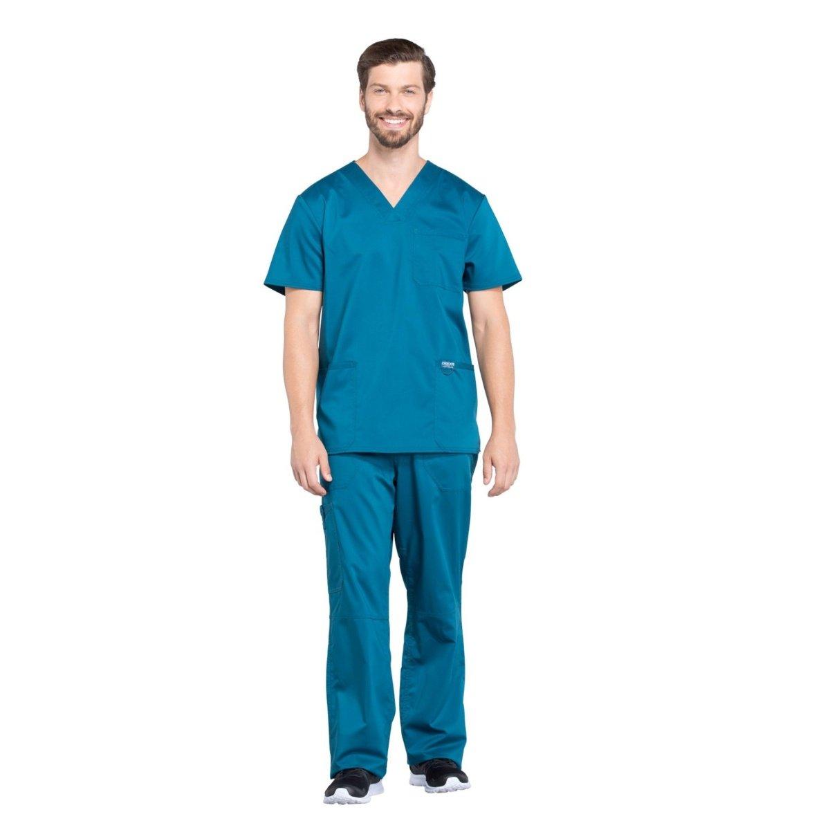 Мужской медицинский костюм Revolution цвет морская волна