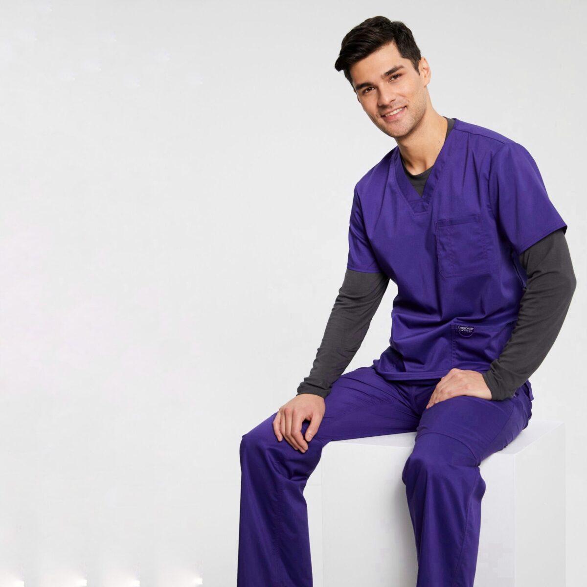 Мужской медицинский костюм Revolution цвет виноград