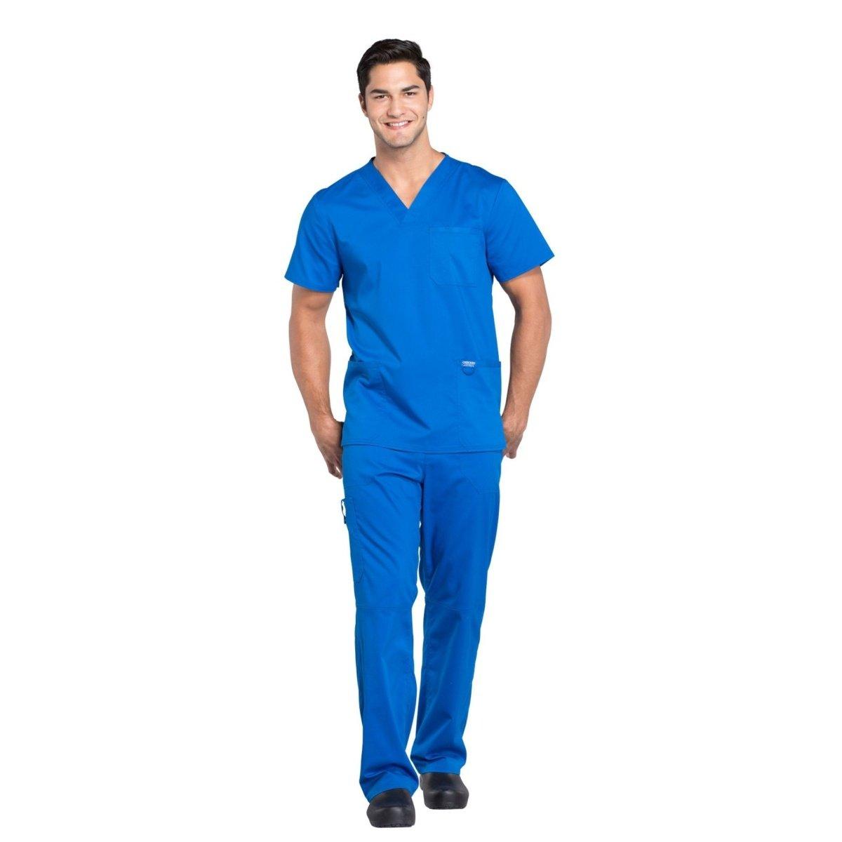 Мужской медицинский костюм Revolution цвет св. синий