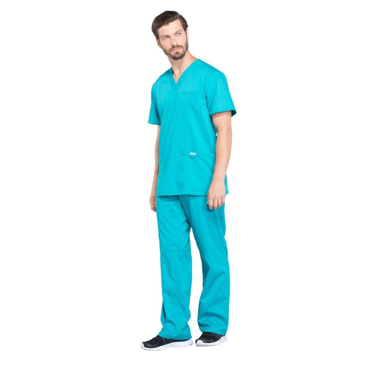 Мужской медицинский костюм Revolution цвет небесный