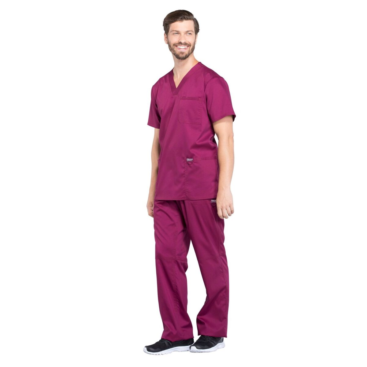 Мужской медицинский костюм Revolution цвет т. розовый