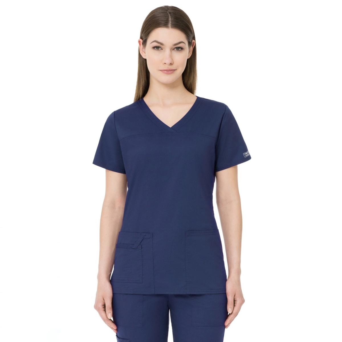 Приталенный женский медицинский костюм Core Stretch из твила цвет - синий