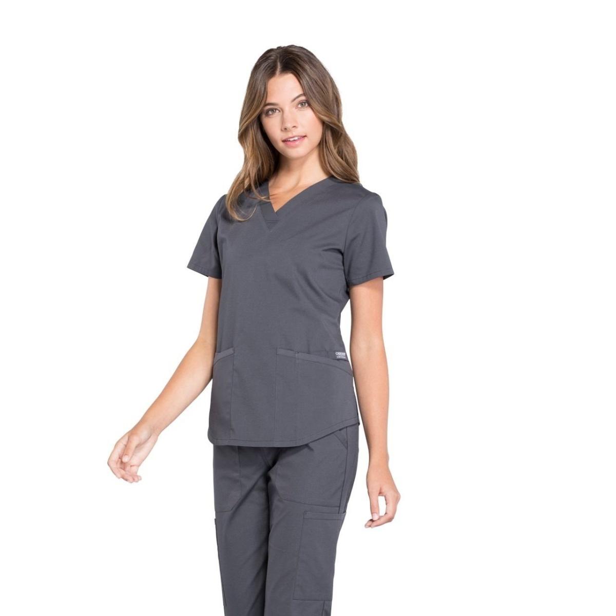 Женский медицинский костюм Professionals серый