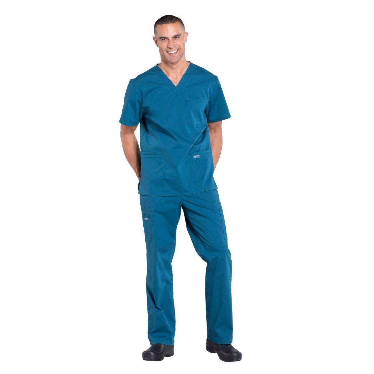 Мужской медицинский костюм Professionals цвет морская волна