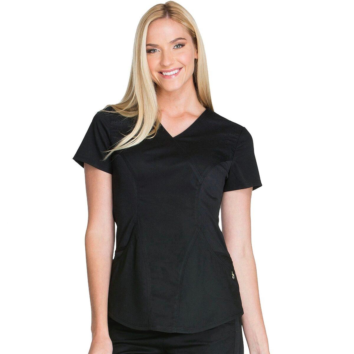 Женский медицинский костюм Lux sport цвет черный