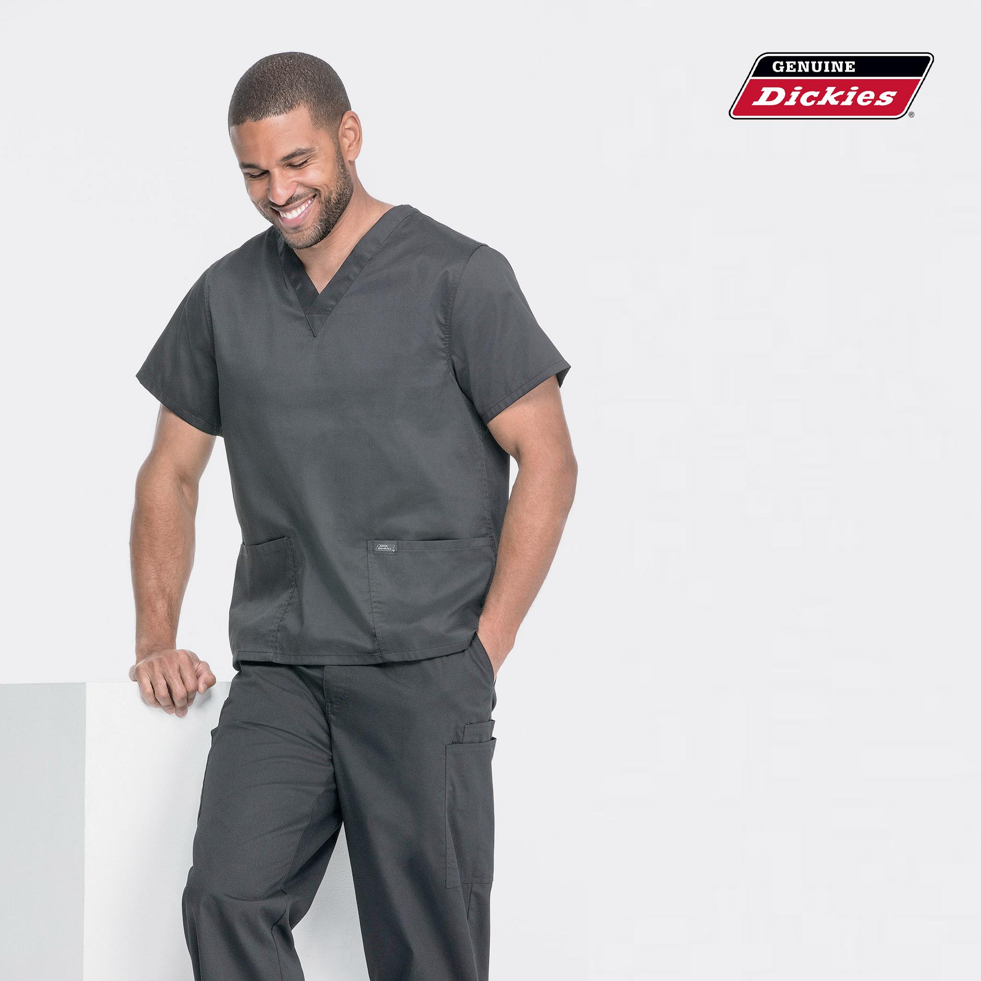 Мужской медицинский костюм Dickies цвет серый