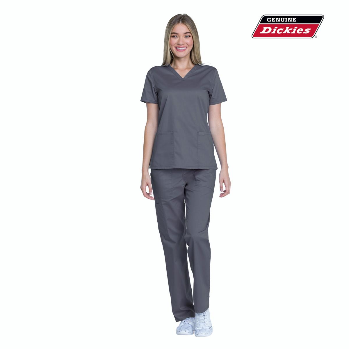 Женский медицинский костюм Dickies цвет серый для врачей