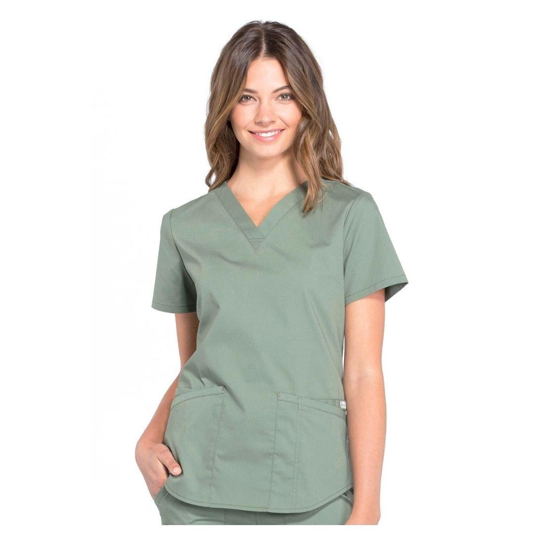 Женский медицинский костюм Cherokee Professionals - цвет оливковый